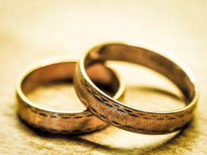 Procession of joy wedding bands